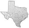 Sheriff map of Texas